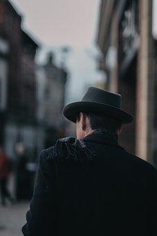 Blur, People, Man, Male, Walking, Alone, Back