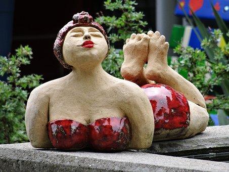 Badenixe, Woman, Sculpture, Bikini, Art, Swim