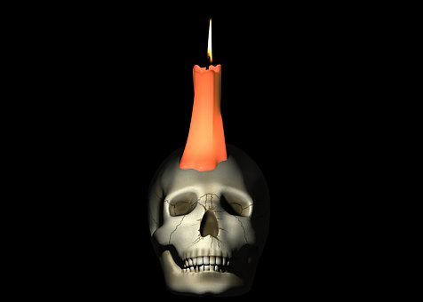 Skull, Candle, Fantasy, Skull And Crossbones