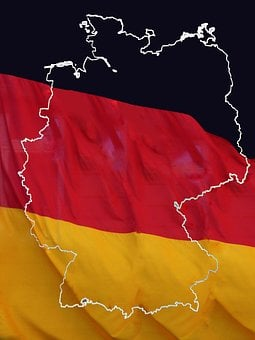 Federal Republic Of, German, Germany Map, Flag, Flags