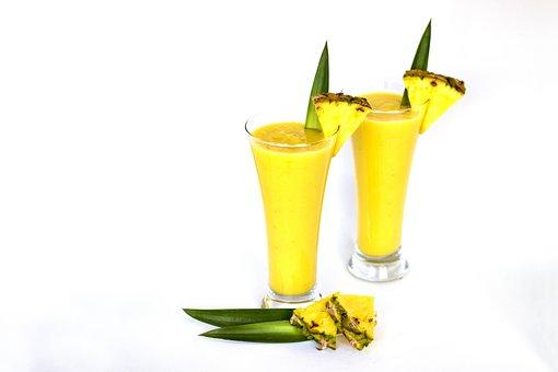 Smoothie, Milkshake, Pineapple, Healthy, Breakfast