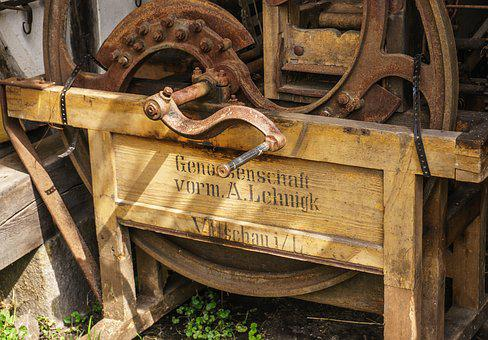 Machine, Threshing, Old Machine, Defect, Rusted