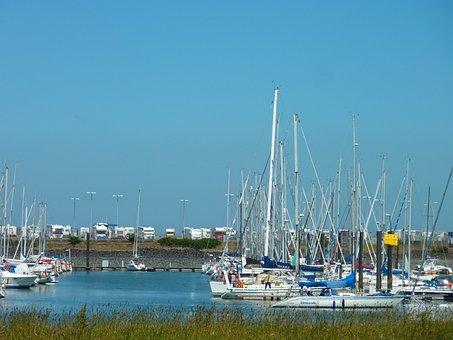 Port, Sail, Sea, Boat, Water, Sailing Boat, Tied Down