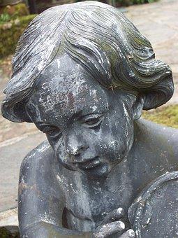 Sculpture, Boy, Statue, Child, Architecture, Stone