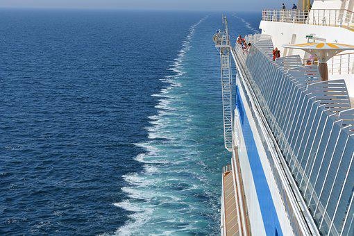 Cruise, View, Sea, Blue, Travel, Holiday, Ship, Go Away