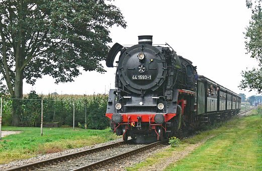Steam Train, Heavy Goods Train Locomotive, Br44, Br 44