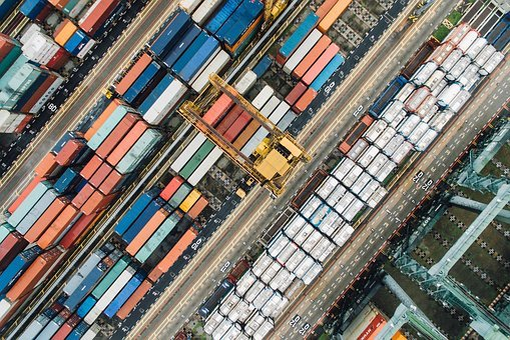 Container, Van, Export, Travel, Cargo, Wharf, Block