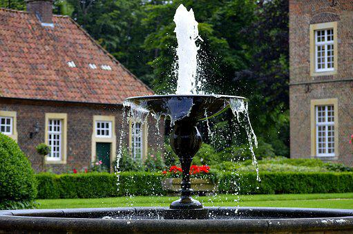 Water Fountain, Fountain, Water, Wet, Inject