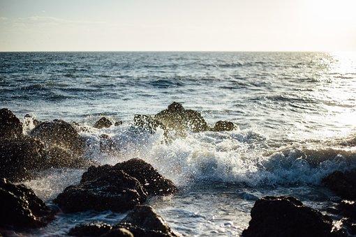 Sea, Ocean, Water, Waves, Nature, Rocks, Rocky, Shore