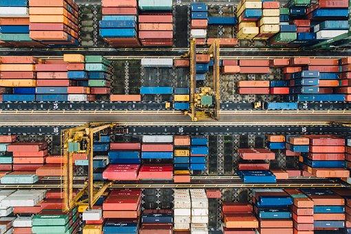 Container, Van, Export, Travel, Cargo, Wharf