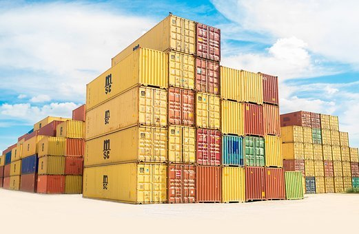 Container, Van, Export, Travel, Cargo, Wharf, Blue, Sky