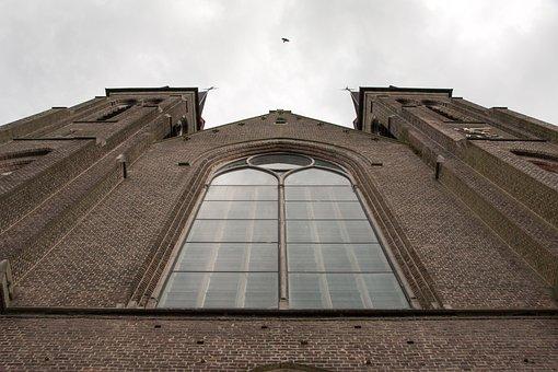 Church, Church Tower, Facade, Religion, Faith