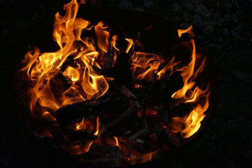 Fire, Flame, Fire Bowl, Wood Fire, Burn, Combustion