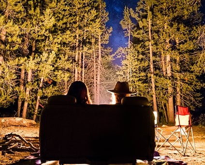 People, Friends, Date, Night, Bonfire, Couch, Green