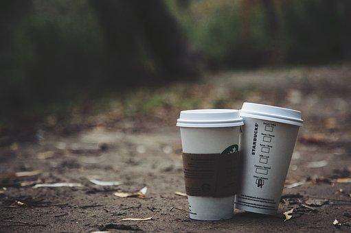 Outdoor, Nature, Leaf, Fall, Dark, Blur, Coffee, Drinks