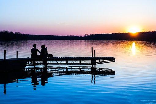 Nature, Landscape, Sunset, People, Bond, Date, Couple