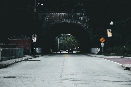 Places, Tunnel, Cars, Vehicles, Transportation, Road
