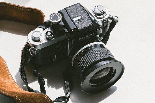 Black, Camera, Lens, Photography, Strap