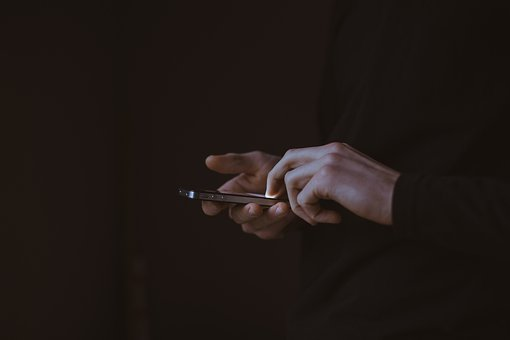 Dark, People, Man, Guy, Texting, Mobile, Phone