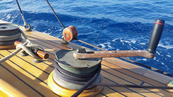 Winch, Lever, Rotating, Fulcrum, Strength, Node, Sea