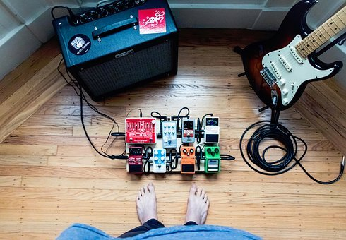 Music, Electric, Guitar, Effects, Pedals, Fender