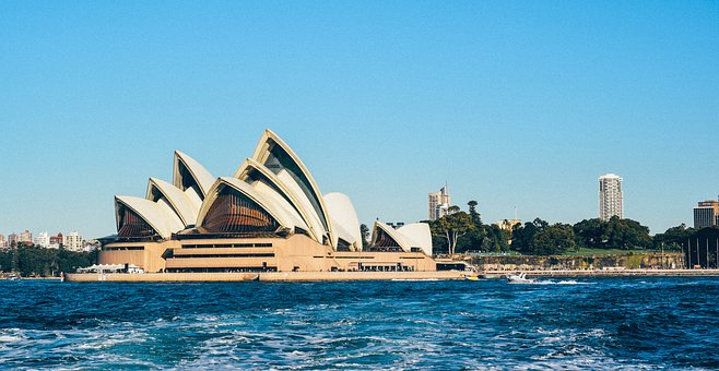 Sydney, Opera, House, Architecture, Nature, Water