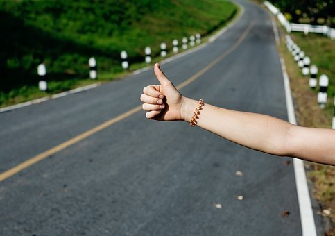 Nature, Grass, People, Hands, Thumbs, Up, Hitchhike