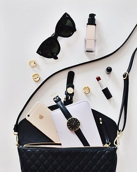 Bag, Watch, Mobile, Phone, Iphone, Gadget, Accessories