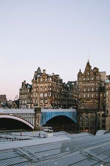 North Bridge, Construction, Rooftop, Edinburgh