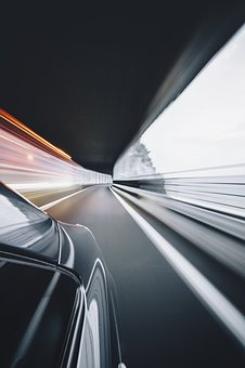 Car, Vehicle, Transportation, Road, Tunnel, Fast, Speed