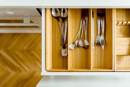 House, Kitchen, Interior, Utensils, Spoon, Fork