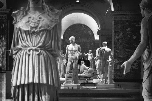 Art, Sculptures, Renaissance, Statues, Black And White