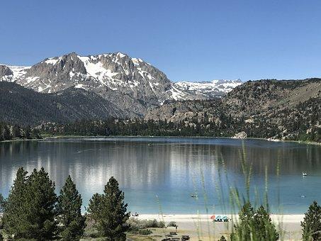 Nature, Lake, Mountain, Tree, Travel, California, June