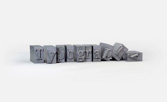 Typography, Blocks, Objects, Embossed