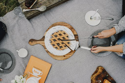 Outdoor, Camping, Plate, Utensils, Spoon, Fork, Cloth