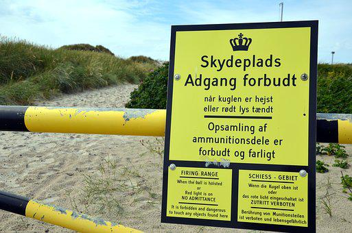Military Training Area, Denmark, Access Forbidden