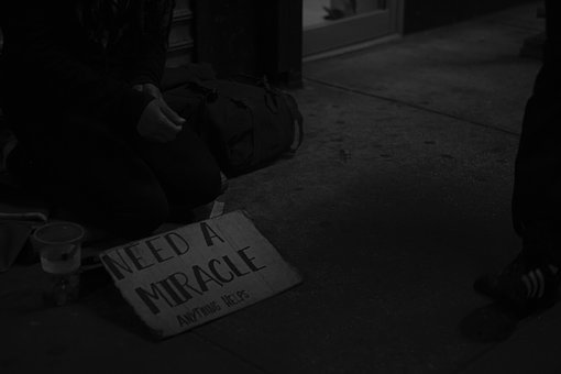 Poor, People, Homeless, Beggar, Street, Black Street