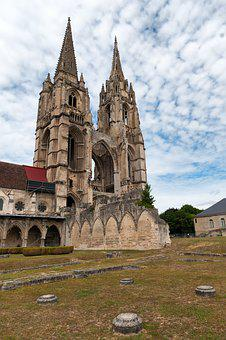 Leave, Cathedral, Church, Soissons, France, Picardy