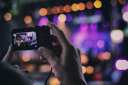 Camera, Filming, Concert, Recording, Event, Record