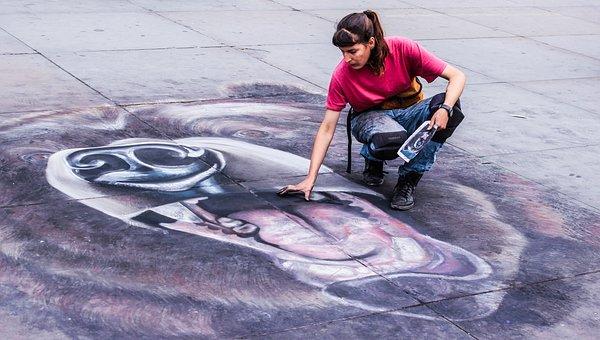 Chalk, Art, City, Design, Sketch, Black, Texture