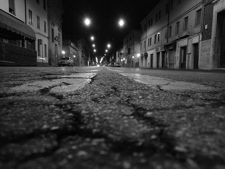 Ferrara, Italy, Italia, Road, City, Architecture