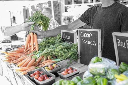 Vegetable, Produce, Fresh, Sales, Vendor, Food, Organic