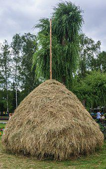 Hay, Haystack, Agriculture, Nature, Pile, Feed