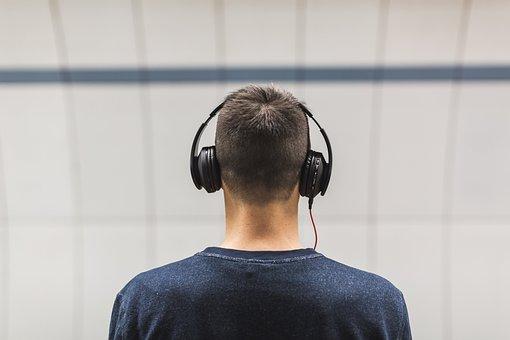 People, Man, Headphones, Music, Sound