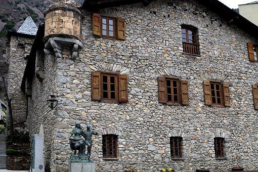 Andorra, Andorra La Vella, House, Wooden Shutters