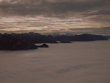 Traunsee, Fog, Mood, Landscape, Austria