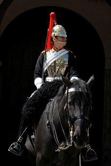 Horseman, London, Royal, Knight, Guard, Rider, Man