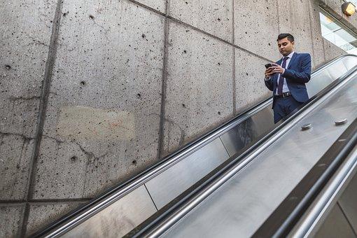 People, Man, Formal, Escalator, Wall, Infrastructure