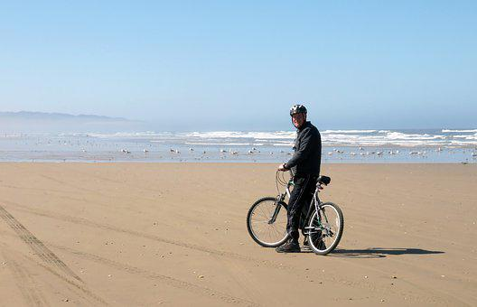 Pismo, Bike, Beach, Vacation, Ocean, Pacific, Coast