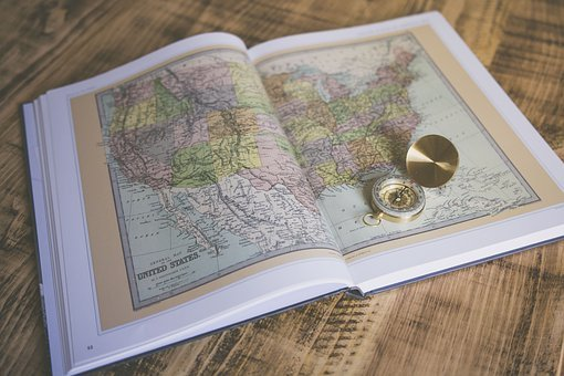 Map, Atlas, Book, Sheets, Pages, Compass, Travel, World